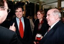 Gordon Brown MP and Sarah Macauley AEU reception at the Labour Party Conference - John Harris - 01-10-1998