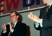 David Trimble applauding during the debate on Ireland at the Labour Party Conference - John Harris - 01-10-1998