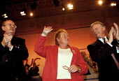Marjorie Mowlam MP Labour spokesperson on Northern Ireland Mo Mowlam MP receiving a standing ovation at the Trades Union Congress, John Edmonds GMB and John Monks TUC - John Harris - 1990s,1998,conference,conferences,female,Ireland,IRISH,member,member members,members,MONK,Monks,Northern Ireland,people,person,persons,pol politics Irish,The Troubles,Trade Union,Trade Union,trade uni