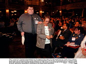 Mark Turnbull NUJ President being assisted from the stage by Anita Halpin NUJ after speaking at the Trades Union Congress - John Harris - 15-09-1998