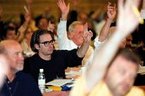 Delegates voting at TUC Conference 1999 - John Harris - 16-09-1999