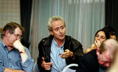 Discussion with Ed Moloney NUJ Belfast editor of Sunday Tribune at a Campaign for Freedom of Information and Press and Broadcasting Freedom fringe meeting TUC Conference 1999 Ed faces imprisonment for... - John Harris - 15-09-1999