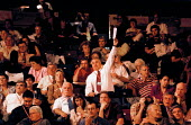 Debate Labour Party Conference 1999 - John Harris - 1990s,1999,Conference,conferences,DELEGATE,delegates,KFAT,member,member members,members,NUKFAT,Party,people,pol politics,trade union,trade union,trade unions,Trades Union,Trades Union,trades unions,wo