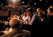 CWU delegation in discussion Labour Party Conference 1999 - John Harris - 28-09-1999