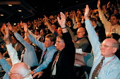 CWU delegation voting Labour Party Conference 1999 - John Harris - 1990s,1999,Conference,conferences,CWU,democracy,member,member members,members,Party,people,pol politics,trade union,trade union,trade unions,Trades Union,Trades Union,trades unions,vote,VOTES,voting,w