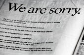A full-page advert in The Sun newspaper bearing the signature of Rupert Murdoch and declaring: We are sorry. Hackgate. The advert, signed by the News Corp chairman and chief executive, apology for the... - John Harris - 27-01-2010
