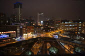 Birmingham City centre at night. New Street Station and Gala Casino. - John Harris - 2010s,2011,ACE,apartment,apartments,architecture,Birmingham,blocks,building,buildings,bus,bus service,buses,cities,city,cityscape,cityscapes,culture,Double Decker,driver,drivers,driving,EBF,Economic,E