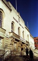 Jewish men on the steps of Hackney Town Hall - Jess Hurd - 26-10-2000