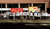 South Hertfordshire Socialist Alliance and Trades Council call for the Renationalisation of the railway outside Watford Junction railway station - Jess Hurd - ,2000s,2001,activist,activists,banner,BANNERS,campaign,campaigner,campaigners,CAMPAIGNING,CAMPAIGNS,Council,DEMONSTRATING,demonstration,DEMONSTRATIONS,local authority,member,member members,members,NAT