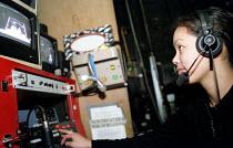 Sound technician backstage Chicargo, Adelphi Theatre West End. - Jess Hurd - 06-03-2001