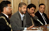 Helal Uddin brother in law of Shiblu Rahman speaks at press conference. Killed by racists 01/04/01, Bow, East London. - Jess Hurd - 03-04-2001