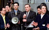 Nick Brown MP meets representatives from the Chinese community. He retracts the MAFF allegation that the source of Foot and Mouth disease was illegally smuggled meat supplied to a Chinese restaurant. - Jess Hurd - 2000s,2001,activist,activists,against,and,animal,animal health,ANIMALS,bigotry,CAMPAIGN,campaigner,campaigners,CAMPAIGNING,CAMPAIGNS,Chinese,civil rights,control,DEFRA,DEMONSTRATING,demonstration,DEMO