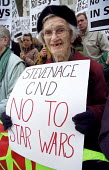 Stevenage CND join anti nuclear protest against NMD New missile defence, Son of Star Wars, Downing St. - Jess Hurd - 14-04-2001