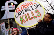May Day Monopoly Anti Capitalist protest World Bank, Haymarket, London. Drop third world debt. - Jess Hurd - 2000s,2001,activist,activists,against,anti,Bank,BANKS,CAMPAIGN,campaigner,campaigners,CAMPAIGNING,CAMPAIGNS,Capitalism,capitalist,culture,DEMONSTRATING,DEMONSTRATION,DEMONSTRATIONS,globalisation,Globa