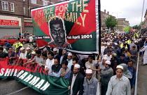 Funeral march for Shiblu Rahman Stepney Green, East London. Murdered by racists 01/04/01. - Jess Hurd - 27-05-2001