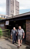 Pensioner casts his vote at Poplar Polling Station, East London. - Jess Hurd - ,2000s,2001,adult,adults,age,ageing population,cities,city,democracy,disabilities,Disability,disable,disabled,disablement,elderly,Election,ELECTIONS,General Election,General Elections,housing,incapaci