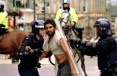 Police violence towards Asian man, Anti Nazi League protest against the far right National Front NF, Bradford 2001 - Jess Hurd - 2000s,2001,activist,activists,adult,adults,against,Anti,arrest,ARRESTED,ARRESTING,Asian,BAME,BAMEs,bigotry,black,BME,bmes,CAMPAIGN,campaigner,campaigners,CAMPAIGNING,CAMPAIGNS,clj,crime law and justic