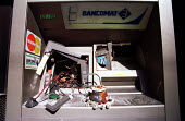 Italian cash machine wrecked by anarchists. Genoa G8 summit. - Jess Hurd - 21-07-2001