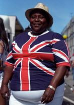 Union Jack T-shirt Notting Hill Carnival London - Jess Hurd - 27-08-2001