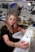 Backstage Costume Department, Lyric Theatre, London West End. Sewing. - Jess Hurd - 19-10-2001