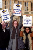 PCS strikers lobby Parliament. Dispute over safety screens. Westminster, London. 29/01/2002 - Jess Hurd - 08-04-2003