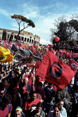 Three million attend CGIL demonstration against Silvio Berlusconi and his plans for Labour market reforms, which will make it easier for employers to sack people. Protest also against terrorist killin... - Jess Hurd - 23-03-2002