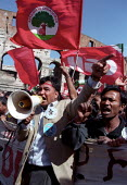 Refugee groups join the three million strong CGIL rally against Silvio Berlusconi Rome, Italy 2002 and his plans for Labour market reforms, which will make it easier for employers to sack people. Prot... - Jess Hurd - 23-03-2002