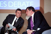 Gordon Brown MP with Dave Prentis Unison, Public Services Debate sponsored by Unison and The Guardian newspaper. - Jess Hurd - 25-04-2002