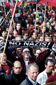 Anti Nazi demonstration through Paris after the shock result forJjean-Marie Le Pen in the Presidential Election. - Jess Hurd - 27-04-2002