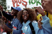School pupils join anti ational Front demonstration through Paris after the shock result for Jean-Marie Le Pen in the Presidential Election. - Jess Hurd - 27-04-2002