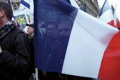 FN youth wing at Jean-Marie Le Pen Presidential rally, Paris. - Jess Hurd - 2000s,2002,activist,activists,bigotry,CAMPAIGN,campaigner,campaigners,CAMPAIGNING,CAMPAIGNS,DEMOCRACY,DEMONSTRATING,demonstration,DEMONSTRATIONS,DISCRIMINATION,Election,ELECTIONS,equal,equality,eu,Eur