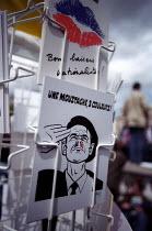 Postcards for sale Jean-Marie Le Pen Presidential rally, Paris. - Jess Hurd - 01-05-2002