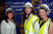 Lisa Hipwell Ucatt (left) shop steward for Leicester City Council. Women in Construction Conference, DTI, London. - Jess Hurd - 10-05-2002