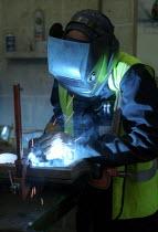 Welder, Redbank Manufacturing, Measham, Staffordshire - Jess Hurd - 09-07-2002