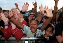 Love Music Hate Racism Anti Nazi League carnival in Manchester. - Jess Hurd - 2000s,2002,ACE entertainment,activist,activists,anl,Anti Racism,BAME,BAMEs,bigotry,black,BME,bmes,CAMPAIGN,campaigner,campaigners,CAMPAIGNING,CAMPAIGNS,child,CHILDHOOD,children,cultural,dance,DANCER,D