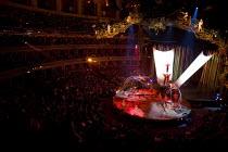 Artists perform at the Cirque du Soleil - Varekai - Royal Albert Hall, London. - Jess Hurd - 2010,2010s,ACE Arts Culture & Entertainment,acrobat,acrobatics,acrobats,circus,cities,city,performance,performer,performers,performing,urban
