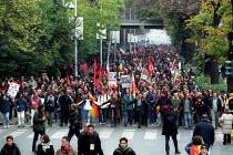 Peace demonstration, European Social Forum, Florence, Italy. - Jess Hurd - 09-11-2002