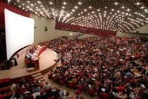 Meeting on Globalisation and Libralisation, Palacongressi, European Social Forum, Florence, Italy. - Jess Hurd - 06-11-2002