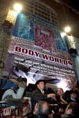 Professor Gunther Von Hagens gives a press conference before he performs his controversial Public Autopsy, Body Worlds art exhibition, Atlantis Gallery, East London. - Jess Hurd - 2000s,2002,ACE arts culture,Anatomical,anatomy,art,BIOLOGICAL,biological tissues,biology,bodies,Body,cities,city,conference,conferences,DEHYDRATED,dehydration,EDU education,exhibition,Fine Art,fixatio