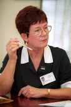 Marlene Walker Unison Catering rep, Joint Shop Steward meeting, Selly Oak Hospital, West Midlands. - Jess Hurd - 07-08-2002
