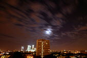 Light Pollution from city street lamps reflects off the clouds on a Summer Evening. East London. - Jess Hurd - 11-06-2003