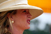 The wealthy enjoy watching The Veuve Clicquot Gold Cup Polo Final, Cowdray Park Polo Club. West Sussex. - Jess Hurd - 20-07-2003