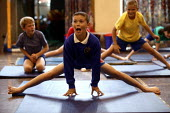 Year 3 children from Langley Junior School take part in gym activities. - Jess Hurd - 02-07-2003