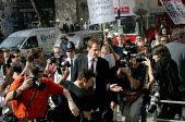 Alastair Campbell, director of communications arrives at the Hutton Enquiry into the death of government scientist Dr. David Kelly. London. - Jess Hurd - 19-08-2003