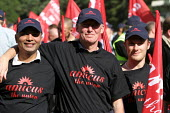 BAE Systems workers from Stockport. AMICUS, TGWU, MSF and UCATT join the Unions for Manufacturing march on Labour Party Conference 2003. - Jess Hurd - 28-09-2003