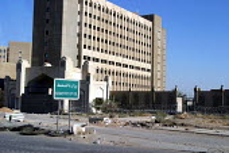 Ministry of Oil Baghdad, Iraq. - Jess Hurd - , conflicts & war, Iraqis,2000s,2003,Arab,Arabs,ebf economy,Iraqi,Middle East,Ministry,occupation,occupations,Oil,UCW Unrest,US,war