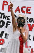 Anti war campaigner protests against President George Bush state visit. London. - Jess Hurd - 19-11-2003