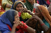 Indian women from the Forest Workers Trade Union. World Social Forum, Mumbai, India. - Jess Hurd - 23-01-2004