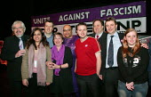 Trade union and student leaders join Unite Against Fascism Launch Rally, London Astoria. - Jess Hurd - 26-02-2004