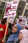 Anti racists demonstrate against the visit of Jean-marie Le Pen to Britain by the BNP. Birmingham. - Jess Hurd - 25-04-2004